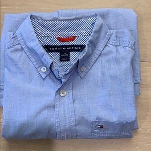 Tommy Hilfiger  blue long sleeve shirt size 12/14